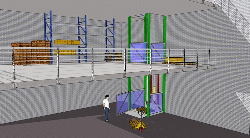 Monte charge industriel hamon monte charges colonnes for Ascenseur dans une maison
